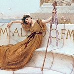 John William Godward - On the Terrace