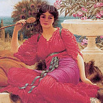 John William Godward - Flabellifera (sketch)