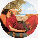 John William Godward - In Realms of Fancy