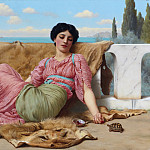 The quiet pet, John William Godward