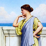 John William Godward - LOOKING OUT TO SEA