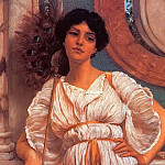 A Classical Beauty With A Peacock Fan, John William Godward