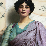 John William Godward - A Roman Beauty