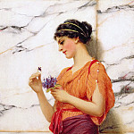 Violets, John William Godward