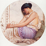 John William Godward - A Grecian Girl
