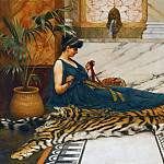 John William Godward - The Tigerskin