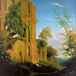Karl Wilhelm Gentz - View of the ruined monastery Lehnin