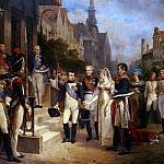 Napoleon Bonaparte () Receiving Queen Louisa of Prussia (1776-1810) at Tilsit, 6th July, Louis Apol