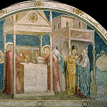 Peruzzi Chapel: Annunciation to Zacharias, Giotto di Bondone