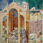 Giotto di Bondone - Legend of St Francis 21. Apparition to Fra Agostino and to Bishop Guido of Arezzo