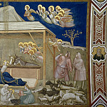 Frescoes of the north transept - Nativity, Giotto di Bondone