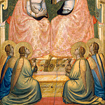 Giotto di Bondone - Baroncelli Polyptych: Coronation of the Virgin