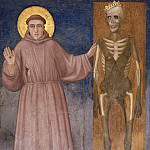 Giotto di Bondone - Frescoes of the north transept - St Francis Points to Death