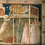 Peruzzi Chapel: Ascension of the Evangelist, Giotto di Bondone
