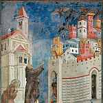Giotto di Bondone - Legend of St Francis 10. Exorcism of the Demons at Arezzo