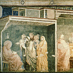 Giotto di Bondone - Peruzzi Chapel: Birth and Naming of the Baptist