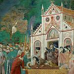 Legend of St Francis 23. St. Francis Mourned by St. Clare, Giotto di Bondone