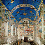 The Chapel viewed towards the entrance, Giotto di Bondone