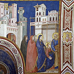 Frescoes of the north transept - Return of Christ to Jerusalem, Giotto di Bondone