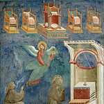 Giotto di Bondone - Legend of St Francis 09. Vision of the Thrones