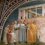 Giotto di Bondone - Bardi Chapel: Renunciation of Wordly Goods