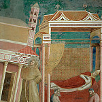 Giotto di Bondone - Legend of St Francis 06. Dream of Innocent III