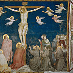 Frescoes of the north transept - The Crucifixion, Giotto di Bondone