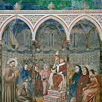 Legend of St Francis 17. St Francis Preaching before Honorius III, Giotto di Bondone