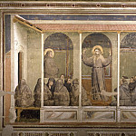 Giotto di Bondone - Bardi Chapel: Apparition at Arles