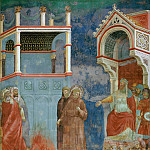 Giotto di Bondone - Legend of St Francis 11. St Francis before the Sultan (Trial by Fire)