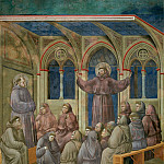 Giotto di Bondone - Legend of St Francis 18. Apparition at Arles