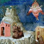 Legend of St Francis 19. Stigmatization of St Francis, Giotto di Bondone