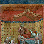 Legend of St Francis 25. Dream of St Gregory, Giotto di Bondone