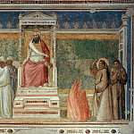 Giotto di Bondone - Bardi Chapel: St Francis before the Sultan (Trial by Fire)