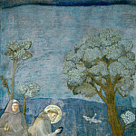Legend of St Francis 15. Sermon to the Birds, Giotto di Bondone