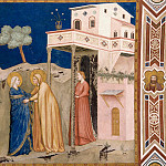 Giotto di Bondone - Frescoes of the north transept - The Visitation