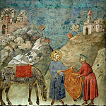 Legend of St Francis 02. St Francis Giving his Mantle to a Poor Man, Giotto di Bondone