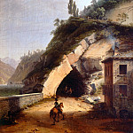 Antonio Barzaghi-Cattaneo - View of the house and the first gallery of Varenna in Bellano