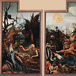 Matthias Grunewald - Visit_of_St_Antony_to_St_Paul_and_Temptation_of_St_Antony_WGA