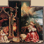 Matthias Grunewald - Concert of Angels and Nativity