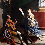 Orazio Gentileschi - Sts Cecilia, Valerianus, and Tiburtius visited by the Angel