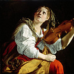 Young Woman with a Violin ]