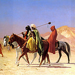 Arabs_crossing_the_Desert, Jean-Léon Gérôme