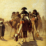 Jean-Léon Gérôme - Napoleon with the General Staff in the desert (sketch)