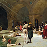 The Great Bath at Bursa, Jean-Léon Gérôme