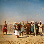 Jean-Léon Gérôme - Egyptian Recruits crossing the Desert