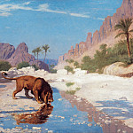 Lion in the Desert, Jean-Léon Gérôme