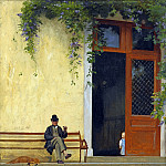Jean-Léon Gérôme - The artist s father in front of the house