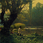 Jean-Léon Gérôme - Summer_Afternoon_on_a_Lake
