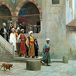 Leaving_the_Mosque, Jean-Léon Gérôme